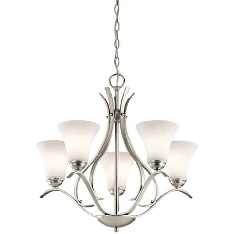 Copper Grove Braeview 5-light Brushed Nickel Chandelier