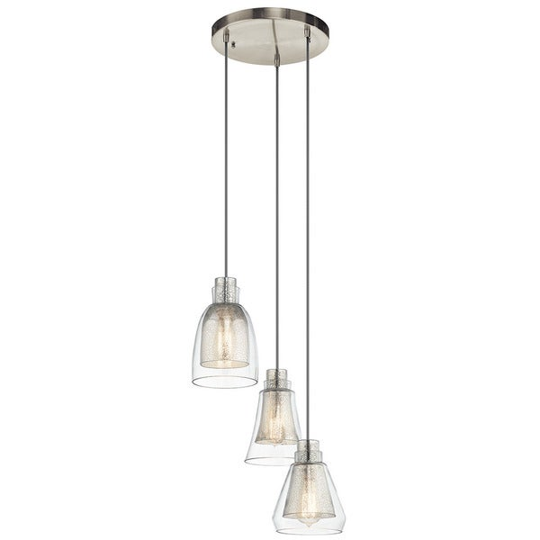 Kichler Lighting Evie Collection 3-light Brushed Nickel Pendant - N/A
