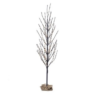 2' Brown Artificial Christmas Tree with 120 Warm White LED Lights