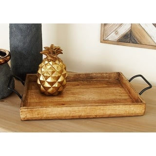 Wood Metal Serving Tray