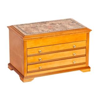 Mele Designs Lynnhurst Wooden Oak-finish Jewelry Box