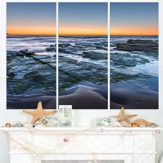Sunrise Over Wide Sydney Ocean - Large Seashore Canvas Print