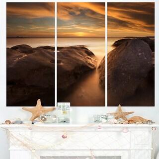 Large Rocks at La Perouse Bridge - Large Seashore Canvas Print