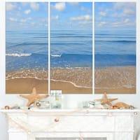 Expansive Tropical Blue Beach - Large Seashore Canvas Print