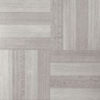 Nexus Ash Grey Wood-grain Vinyl 12-inch x 12-inch Self-adhesive Floor Tiles (Case of 20/20 Square Feet)