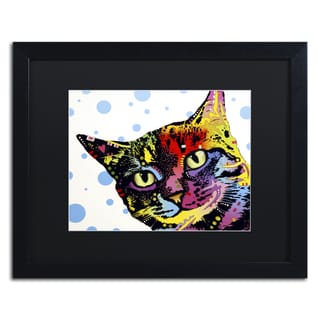 Dean Russo 'The Pop Cat' Matted Framed Art