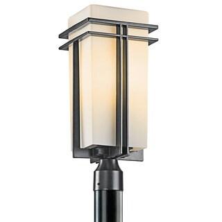 Kichler Lighting Tremillo Collection 1-light Black Outdoor Post Lantern