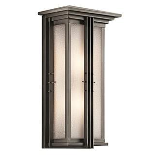 Kichler Lighting Portman Square Collection 2-light Olde Bronze Outdoor Wall Lantern