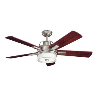 Kichler Lighting Lacey Collection 52-inch Antique Pewter Ceiling Fan w/Light