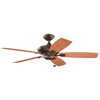 Kichler Lighting Canfield Patio Collection 52-inch Tannery Bronze Powder coat Ceiling Fan