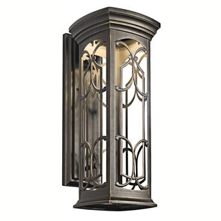 Kichler Lighting Franceasi Collection 1-light Olde Bronze Outdoor LED Wall Lantern