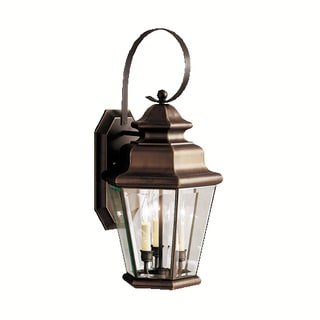 Kichler Lighting Savannah Estates Collection 3-light Olde Bronze Outdoor Wall Lantern