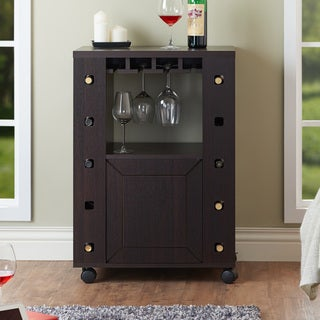 Furniture of America Kerstin Espresso Wine Rack Buffet Table