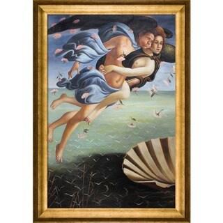 Sandro Botticelli 'Birth of Venus' (left panel) Hand Painted Framed Canvas Art