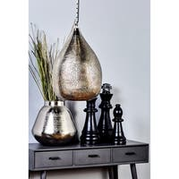Silver-colored Metal Nickel Pendant Light