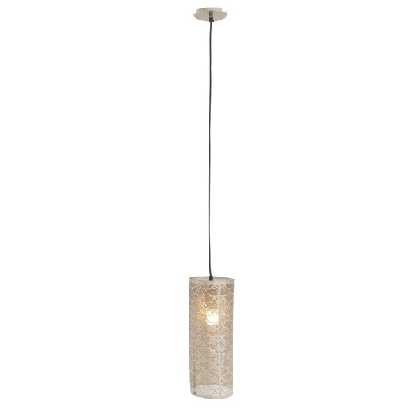 Silver-colored Metal 60-inch Pendant Light