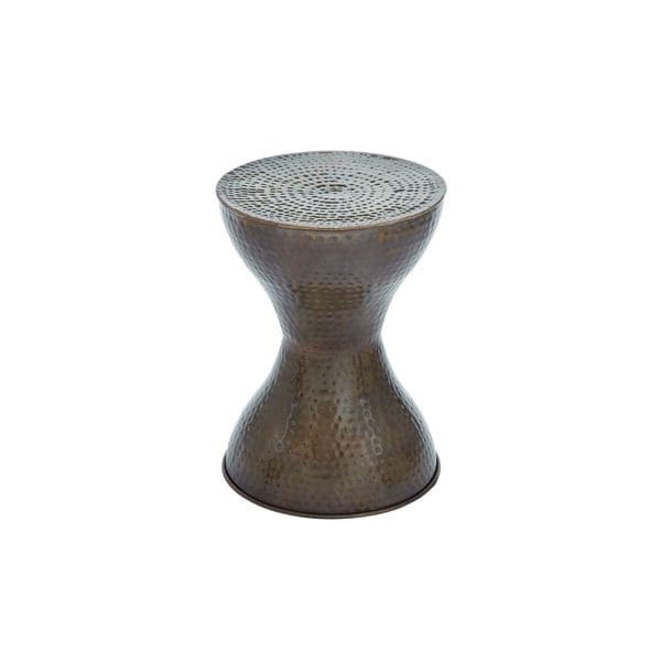 Metal accent table 14 inches wide x 19 inches high for 10 inch wide side table