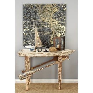 Wood Boat Table (49 inches wide x 33 inches high)