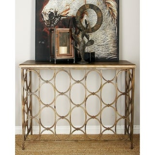 Metal Wood Console Table (43 inches wide x 33 inches high)