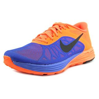 Nike Men's 'Lunarlaunch' Orange Mesh Athletic Shoes