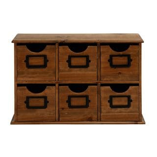 Wood Table (File Cabinet (21 inches wide x 13 inches high)
