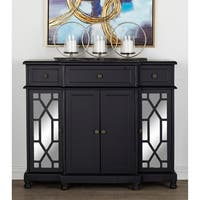 "42"" x 35"" Wood and Mirrored Cabinet with Crystal Rosette Handles by Studio 350"