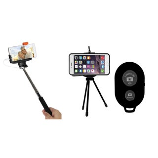 Jamsonic Selfie Tripod With Bluetooth Remote and Selfie Stick Set (Option: Black)
