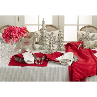 Gloria Collection Stitched Design Dinner Napkin (Set of 12)