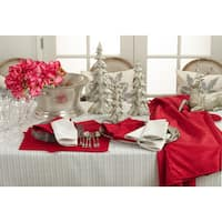 Gloria Collection Woven Stitched Design Dinner Napkin (Set of 4)