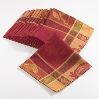 Thanksgiving Collection Jacquard Design Thankgiving Dinner Napkin (Set of 12)