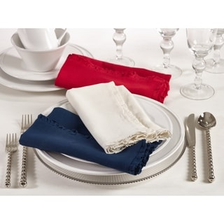 Melina Collection Ruffled Design Dinner Napkin (Set of 4)