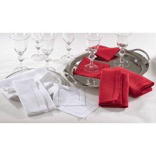 Rochester Collection Dinner Napkin with Hemstitched Border (Set of 12)