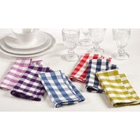 "Gingham Design Dinner Napkin (Set of 4) - 20"" x 20"""
