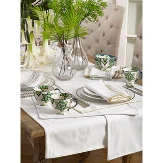 Luana Collection Shimmering Border Design Dinner Napkins (Set of 4)|https://ak1.ostkcdn.com/images/products/12215423/P19061216.jpg?impolicy=medium