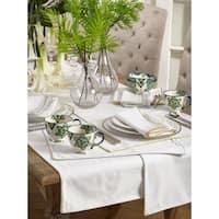 Luana Collection Metallic Trimmed Dinner Napkins (Set of 4)