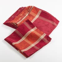 Pumpion Collection Plaid Design Dinner Napkins (Set of 12) - 20 X 20