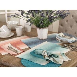 The Canaletto Collection Ombre Design Cotton Dinner Napkin (Set of 4)
