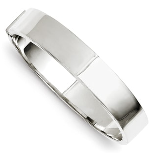 Sterling Silver 12mm Hinged Bangle by Versil