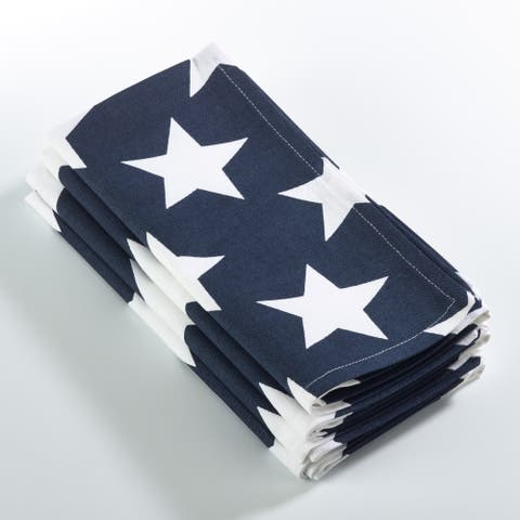 Star Spangled American Flag Design Dinner Napkins (Set of 4)