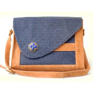 Trovati Porsche Messenger Bag- Navy Blue and Bronze