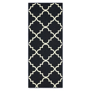Mohawk Home Soho Fancy Trellis Navy Area Rug (2' x 5')