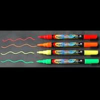 Fine Tip Fluoresncent Chalk Markers (Autumn-Set of 4)