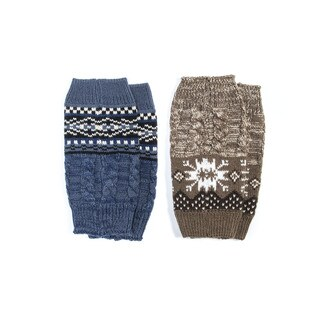 MUK LUKS Women's Reversible Snowflake Boot Toppers (Pack of 2)