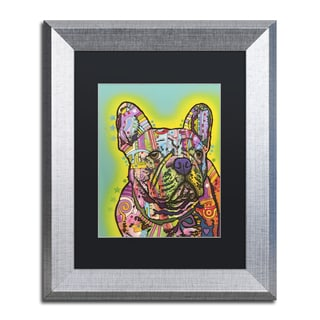 Dean Russo 'French Bulldog III' Matted Framed Art