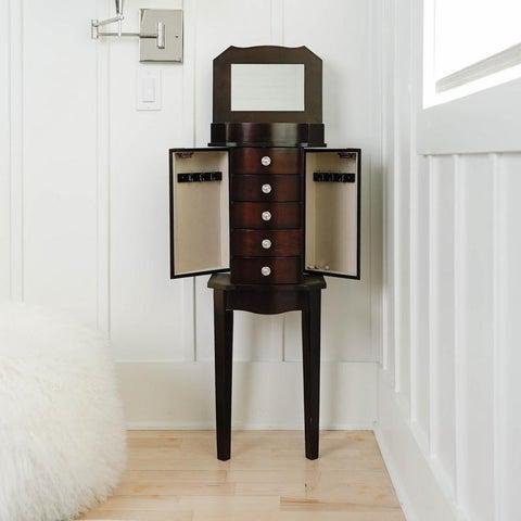 Hives & Honey Meg Espresso Jewelry Armoire