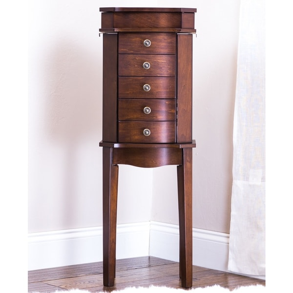 Hives U0026amp; Honey Meg Walnut Jewelry Armoire