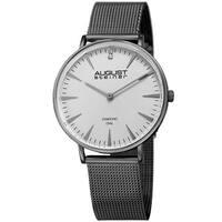 August Steiner Women's Quartz Diamond Stainless Steel Gray Bracelet Watch