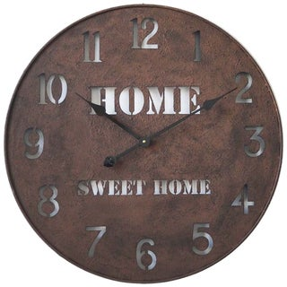 Infinity Instruments Metal Home Sweet Home Wall Clock