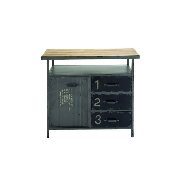 Incroyable Metal Wood Utility Cabinet (36 Inches Wide X 32 Inches High)