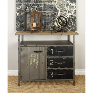 Metal Wood Utility Cabinet (36 inches wide x 32 inches high)